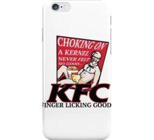 KFC: CHOKING ON A KERNEL iPhone Case/Skin