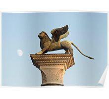 Winged Lion of St. Mark, Venice, Italy Poster