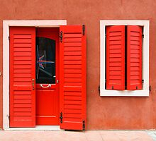Colourful House Facade Caorle, Italy by Petr Svarc