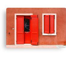 Colourful House Facade Caorle, Italy Canvas Print