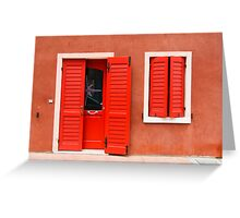 Colourful House Facade Caorle, Italy Greeting Card