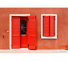 Colourful House Facade Caorle, Italy Photographic Print