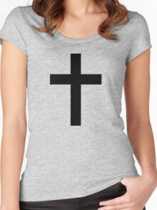 Christian Cross or Latin Cross Women's Fitted Scoop T-Shirt