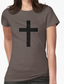 Christian Cross or Latin Cross Womens Fitted T-Shirt