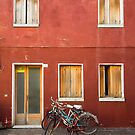 Bicycle and Red House, Caorle, Italy by Petr Svarc