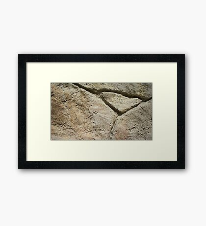 Stone Thirteen Framed Print