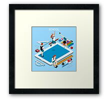 School Devices Tablet Framed Print