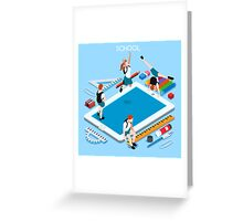 School Devices Tablet Greeting Card