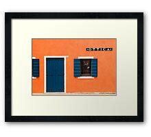 Colourful House Facade, Caorle, Italy Framed Print