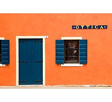 Colourful House Facade, Caorle, Italy Photographic Print