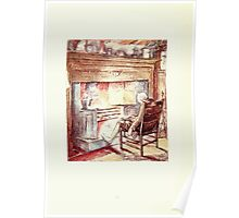 The Tailor of Gloucester Beatrix Potter 1903 0030 Tailor at Fire Tired Poster