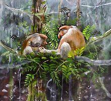 probosis monkey by mkumundan