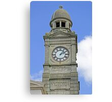 The Guild Hall Clock Tower, Newport Canvas Print