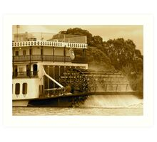 Paddle steamers of yesteryear Art Print