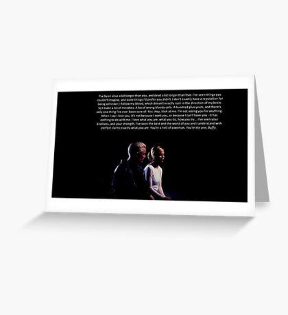 Buffy and Spike - You're the one, Buffy Greeting Card