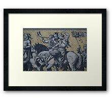 Procession of Princes Wall, Dresden, Saxony Framed Print