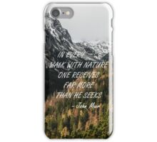 Walk with nature iPhone Case/Skin