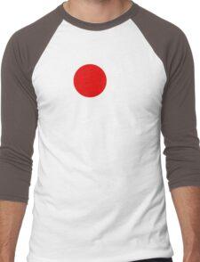 Bushido and Japanese Sun (White text) Men's Baseball ¾ T-Shirt
