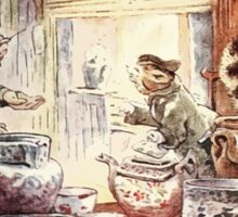 The Tailor of Gloucester Beatrix Potter 1903 0048 Cat In Fine Clothign Sticker