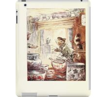 The Tailor of Gloucester Beatrix Potter 1903 0048 Cat In Fine Clothign iPad Case/Skin