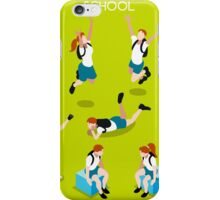 Students Set - Isometric People iPhone Case/Skin