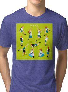 Students Set - Isometric People Tri-blend T-Shirt