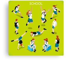 Students Set - Isometric People Canvas Print