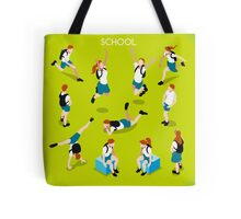 Students Set - Isometric People Tote Bag