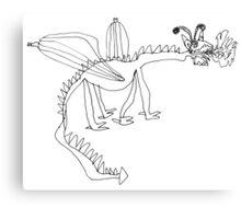 Dracolus the flamethrowing dragon Canvas Print