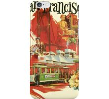 Vintage San Francisco poster iPhone Case/Skin