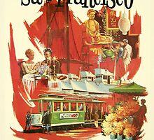 Vintage San Francisco poster by Vintage Designs