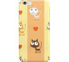 Pattern with kittens. iPhone Case/Skin