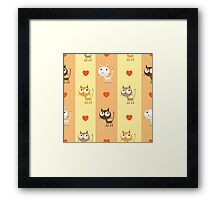 Pattern with kittens. Framed Print