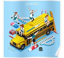 School Bus and Chancellery Set Poster