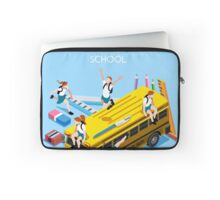 School Bus and Chancellery Set Laptop Sleeve