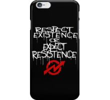 resistance white and red iPhone Case/Skin