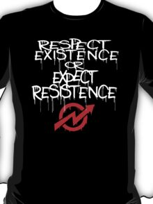 resistance white and red T-Shirt