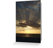 Sunset in Naples, FL Greeting Card