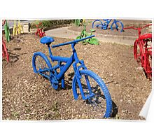 Coloured Bicycles Poster