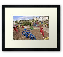 Colored Bicycles Framed Print