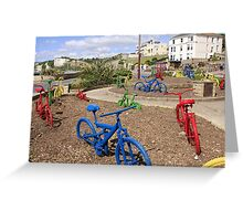 Colored Bicycles Greeting Card
