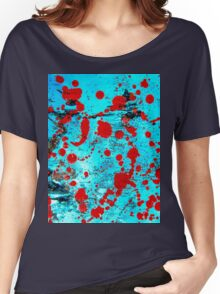 Red and blue. Watercolor Women's Relaxed Fit T-Shirt
