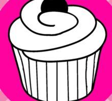 Cupcake Crew pink spiral cupcake logo Sticker