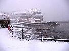 Snow in Staithes by Sue Nichol