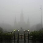 St. Louis Cathedral in the Fog by UncleBug