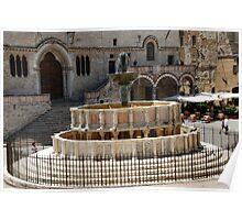 Fontana Maggiore-Perugia, Italy Poster