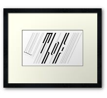 Meanwhile Back on Earth - Barcode Logo Framed Print