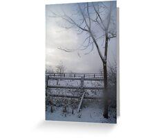 misty tree in winter Greeting Card