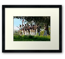 French Soldiers at Waterloo Framed Print