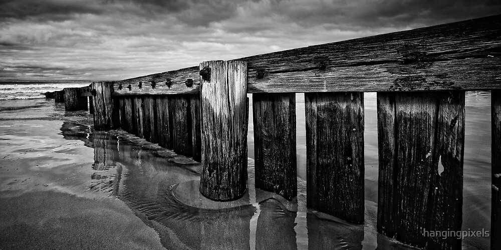 Old Timber B/W Panorama by hangingpixels